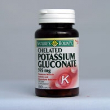 Chelated Potassium Gluconate 595mg 100 Tablets Each - 3 Pack