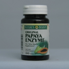Papaya Enzyme Chewable 100 Tablets Each - 3 Pack