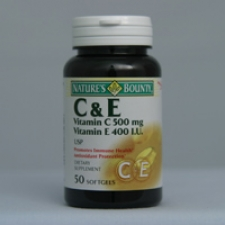 C and E 50 Softgels Each - 3 Pack