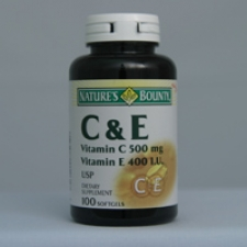 C and E 100 Softgels Each - 3 Pack