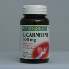 L-Carnitine 500mg 60 Tablets Each - 3 Pack