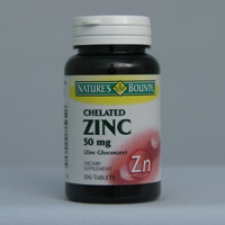 Chelated Zinc 50mg 100 Caplets Each - 3 Pack