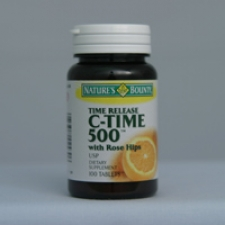 C-500 Time Release with Rose Hips 100 Tablets Each - 3 Pack