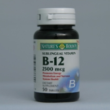 B-12 Sublingual 2500 mcg 50 Tablets Each - 3 Pack