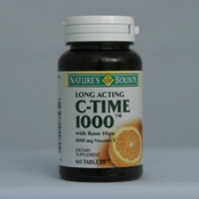 C-1000mg Time Release with Rose Hips 60 Tablets Each - 3 Pack
