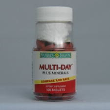 Multi-Day Plus Minerals 100 Tablets Each - 3 Pack