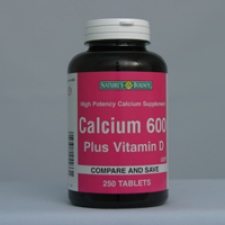 Calcium 600 250 Tablets Each - 3 Pack