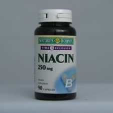 Niacin 250mg Time Release 90 Capsules Each - 3 Pack