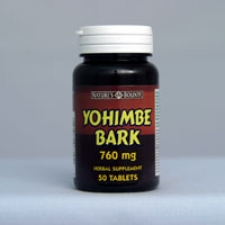 Yohimbe Bark 760mg- 50 Tablets Each - 3 Pack