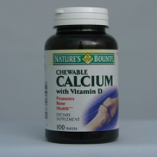 Calcium with D Chewable 100 Wafers Each - 3 Pack