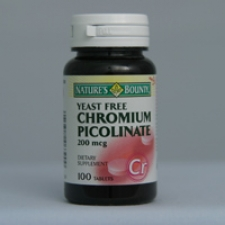 Chromium Picolinate 200 mcg. 100 Tablets Each - 3 Pack