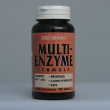 Multi-Enzyme Formula 90 Tablets Each - 3 Pack
