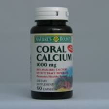 Coral Calcium 1000mg 60 Capsules Each - 3 Pack