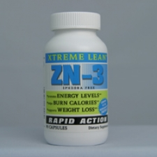 ZN-3 - Extreme Lean - Rapid Action - Ephedra Free 90 Capsules Each - 3 Pack